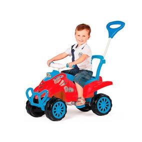 Quadriciclo Infantil A Pedal Cross Com Buzina 2em1 Calesita