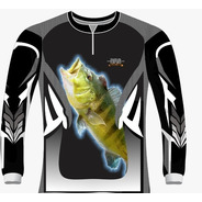 Camiseta Pesca Preta Tucunaré 2 Dry Fit Caçadores Brs