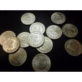 Una Moneda 20 Centavos Resplandor Plata Ley 0.720