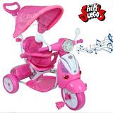 Triciclo Scooter Con Guiador, Cobertor Solar 3en1