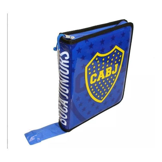 Boca Juniors Carpeta 3anillos C/cierre Escolar Envios Pais