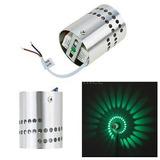 1w Aluminio Minimalista Simple Moderna Pared Espiral Luz...