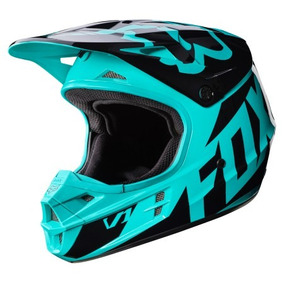 Casco Motocross Fox Head - V1 Race Distribuidor Oficial Turq