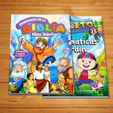 Biblia Para Niños + Libro De Matemáticas Infantil