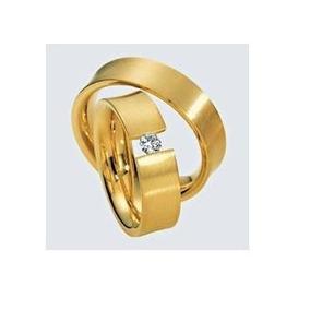Par De Alianças De Ouro 18k Pura Paixão Mais Diamantes Al12v