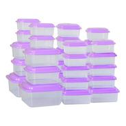Kit 30 Potes Vasilhas De Plásticos P/ Freezer Micro-ondas