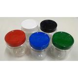 100 Potes Plásticos Vazios Simples Cremes/pomadas 250gramas