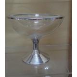 Taça Da Felicidade Duplo Acrílico Cristal Pé Alumínio - Pç