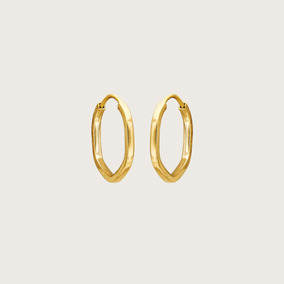 Argola Lulean Em Ouro 18k (750)