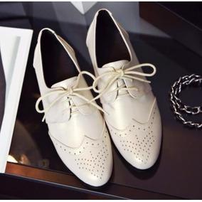 Sapato Feminino Oxford Nude - Importado