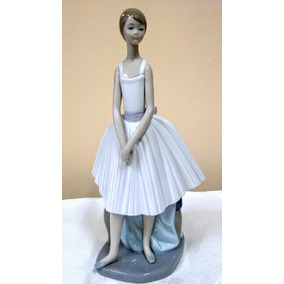 Antigua Figura Porcelana Nao By Lladro Bailarina De Ensayo