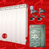 Radiador Calefaccion Peisa T500 10 Velas Con Kit Instalación