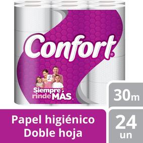 Papel Higiénico Confort 24u Doble Hoja 30m Tienda Confort