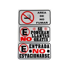Placa Plastico No Estacionarse/no Fumar Ch/paq 3 - 54676