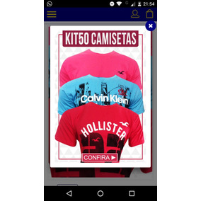 Kit 50 Camisetas Varias Marcas
