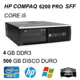Cpu Hp Compaq 6200 Pro Quad - Core (usado)* + Monitor 20¨