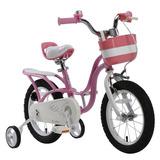 Bicicleta Niña Aro 16 Royal Baby Matt Little Swan Rosado