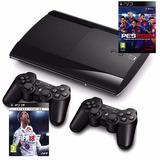 Ps3 500gb Nuevo + 60 Juegos Originales + 3 Controles Inalámb