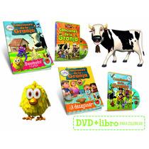 Canciones De La Granja 1 Y 2 Dvd + 2 Libros Para Colorear
