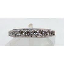 Pocao2005- Aliança Inteira Ouro Branco 18k750 Diamantes 869