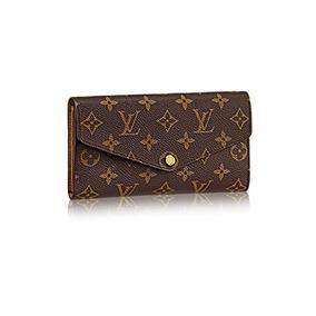 Monedero Auténtico Louis Vuitton Monedero De Lona De Sarah