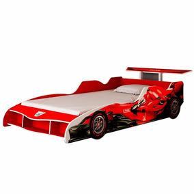 Cama Infantil Gelius Carro F1 Cinza