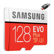 Micro Sd Samsung Evo Plus 128gb 100mb/s 4k + Adaptador Usb