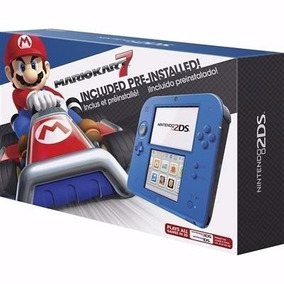 Nintendo 2ds Azul Incluso Mario Kart 7 Novo + 130 Jogos