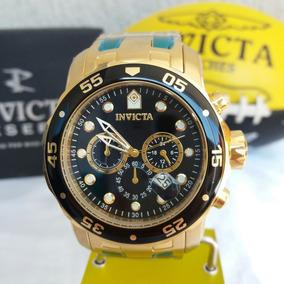 Relógio Invicta Pro Diver 0072 Original Masculino Dourado