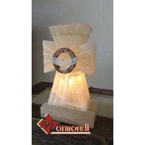 Nuevo Diseño! Lampara De Cruz De Onix, Espiritu Santo 15 Cm