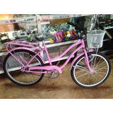 Bicicleta Playera Rodado 24 Dama / Mujer Varios Colores