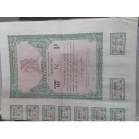 Titulo Da Divida Interna Fundada Federal Cr$5000 1956