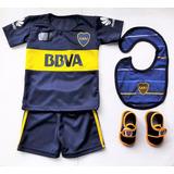 Kit Boca Bebe *premium* Camiseta+short+babero+escarpin Ajuar
