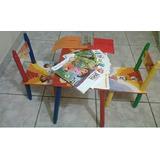Mesa+dos Sillas Para Niños