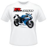 Camiseta Moto Suzuki Gsx R 750 Srad Azul Gsxr Camisa