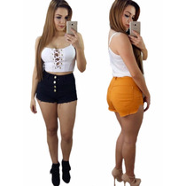Shorts jeans Feminino Estilo Anitta Hot Pants
