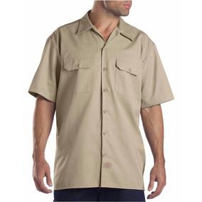 Dickies 1574 Camisa Camisola Trabajo Manga Corta Khaki S-xxl