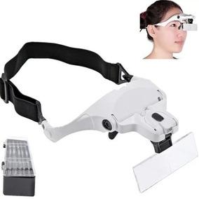 Lupa De Aumento Para Cabeça Oculos 5 Tipos Lentes E Luz Led ac7afd00df