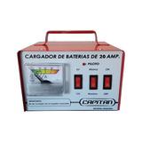 Cargador De Bateria 20 Amp. Auto Moto Capitan Nacional M