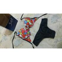 Bikini Con Corpiño Armado Y Culotte Less Tiro Alto (85-90)