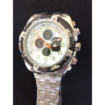 Relógio Atlantis G3088 Prata/branco/laranja/vinho/preto/azul