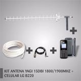 Kit Celular Rural Gsm Lg B220 C/ Antena 15dbi | Fretegrátis