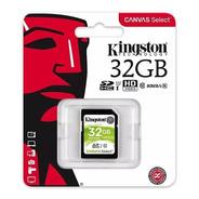 Memoria Sd Hc 32gb Kingston Clase 10 Full Hd Filmadora