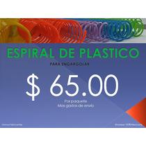 Espiral De Plástico Para Encuadernar O Engargolar
