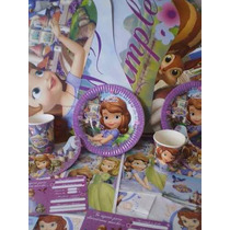 Set De Cotillon Tematico P/10 Chicos De Sofia/kitty/princesa