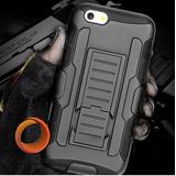 Forro Robot Doble Con Clip Iphone 4 4s 5 5s 6 6s 6 Plus