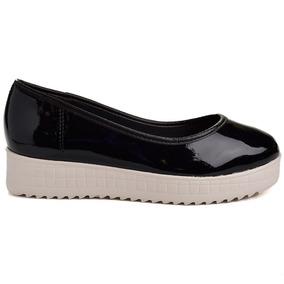 Sapato Flatform Azaleia 624217 - Preto
