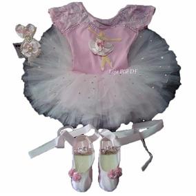Roupa Infantil Kit Bailarina Tutu Aniversário Criança