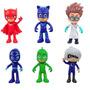 Brinquedos Pj Masks 6 Pçs Modelo Heróis De Pijama