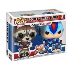Funko Pop! Marvel Vs Capcom Rocket Vs Megaman X